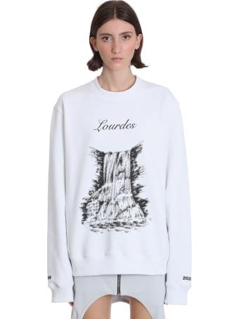 Lourdes Sweatshirt In White Polyamide