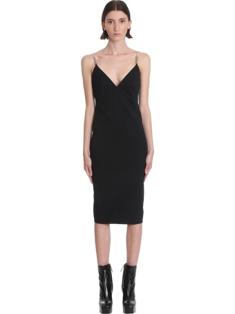 Rick Owens Maillot Dress Dress In Black Cotton