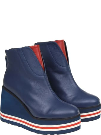 Paloma Barcelò Paloma Barcelo 'sonya Leather Boot In Blue Color