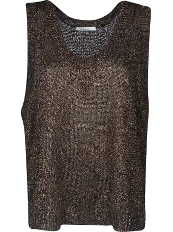Mes Demoiselles Glittery Laced Sides Top