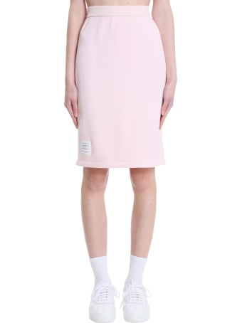 Thom Browne Skirt In Rose-pink Cotton