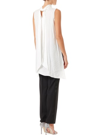 Parosh Silk Sleeveless Shirt With Stars Jacquard