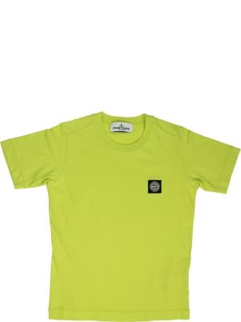 Stone Island Cotton T-shirt Lemon