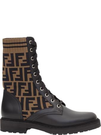 Fendi Ff Biker Boots