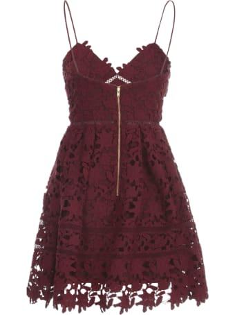 self-portrait Berry Azaelea Mini Dress