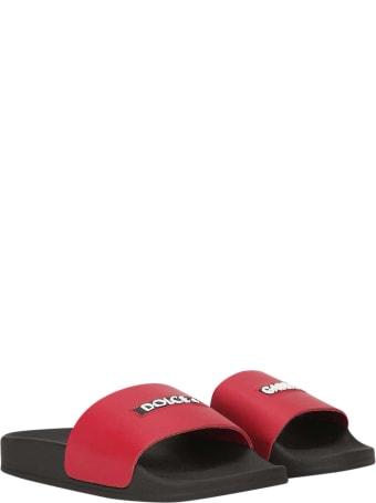 Dolce & Gabbana Black Slippers