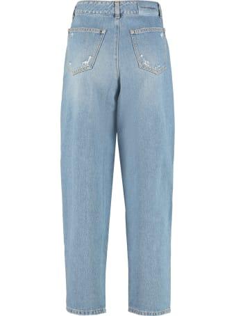Chiara Ferragni Fringed Loose-fit Jeans