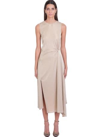 Lanvin Dress In Beige Polyamide