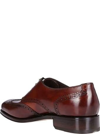 Salvatore Ferragamo Brown Leather Bryant Derby Shoes