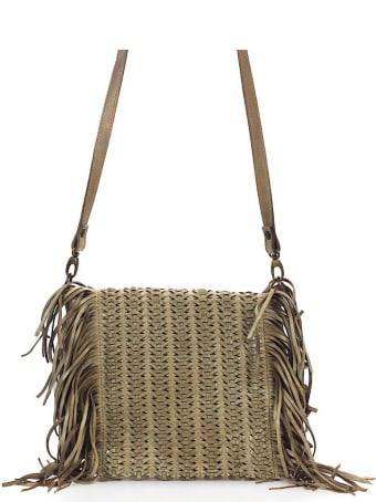 Rehard Weave Beige Fringes Crossbody Bag