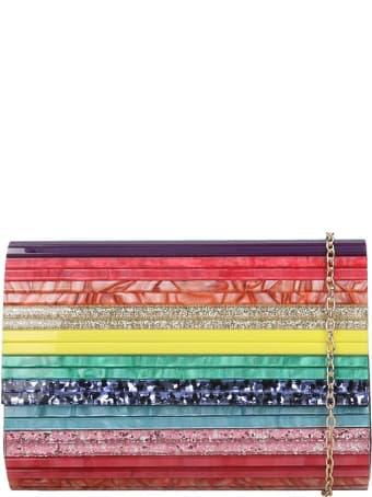 Kurt Geiger Party Envelope Shoulder Bag In Multicolor Pvc