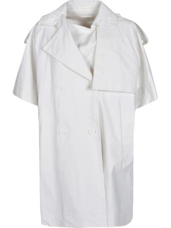 Max Mara Double-breasted Short-sleeve Coat