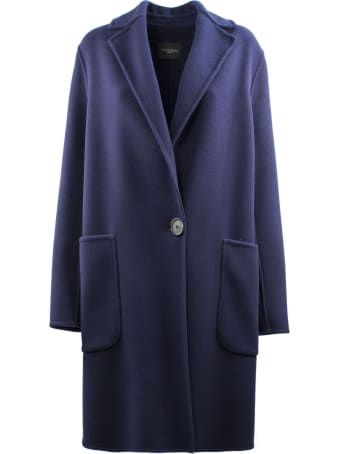 Antonelli Blue Coat In Virgin Wool