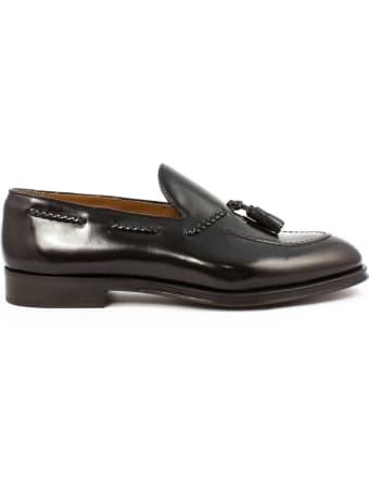 Doucal's Ebony Leather Loafer