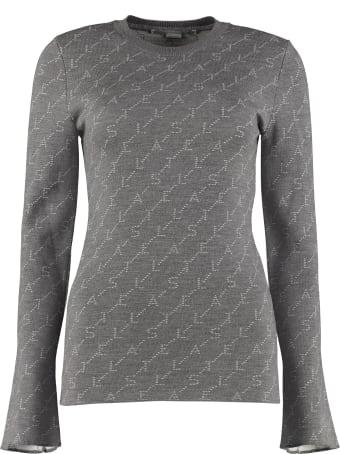 Stella McCartney Monogram Long-sleeved Crew-neck Sweater