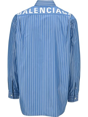Balenciaga Logo Striped Shirt