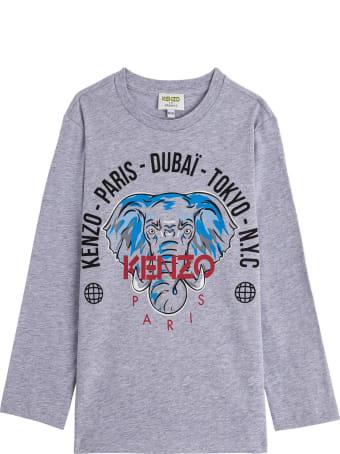 Kenzo Kids Jersey T-shirt With Print