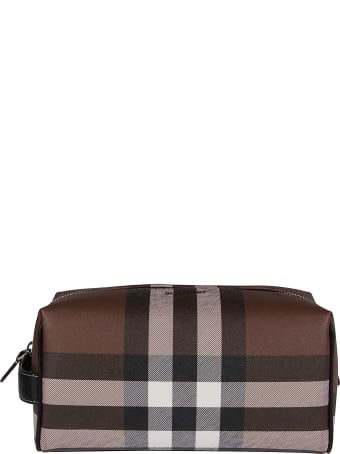 Burberry Brown Leather Pouch