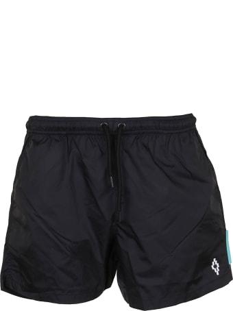 Marcelo Burlon Cross Beachwear Black White