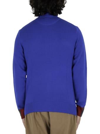 Sun 68 Cardigan Buttons Color Rib - Light Blue