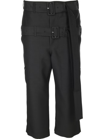 Lanvin Double Belt Cropped Trousers