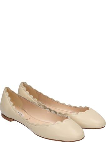 Fabio Rusconi Ballet Flats In Beige Leather