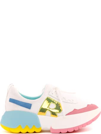 Ruco Line Multy Tabbi White Fabric Sneakers