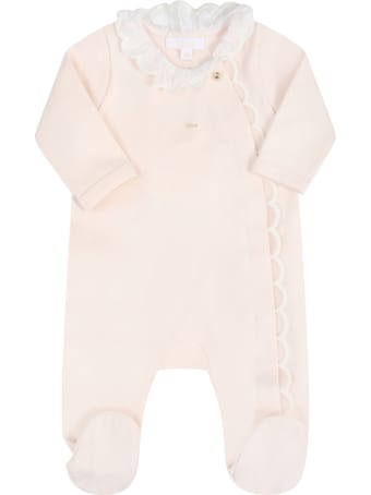 Chloé Pink Set For Babygirl With Logo