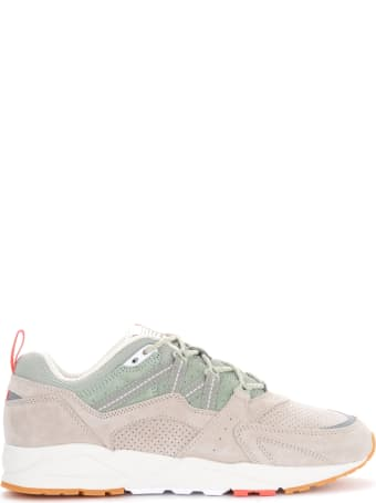 Karhu Fusion 2.0 Sneakers In Gray And Beige Suede