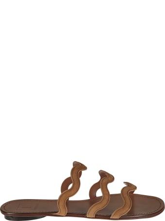 L'Autre Chose Stripe Strap Flat Sandals