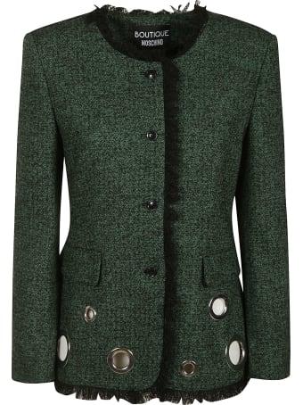 Moschino Fur Trim Perforated Jacket