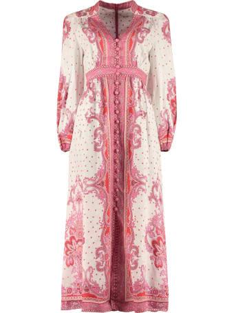 Zimmermann Printed Linen Maxi Dress