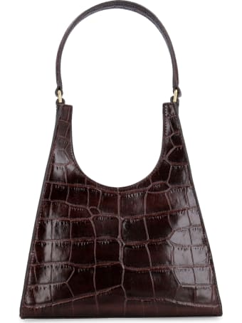 STAUD Rey Croco-print Leather Bag