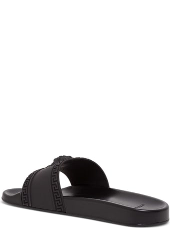 Versace Black Medusa Slides