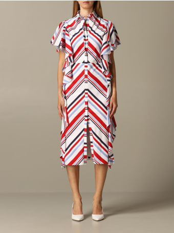 Stella Jean Dress Stella Jean Striped Dress With Ruffles