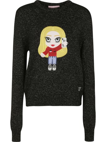 Chiara Ferragni Glitter Embellished Ribbed Sweater