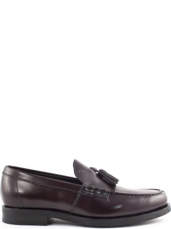 Tod's Loafers In Bordeaux Leather