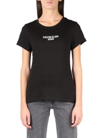 Calvin Klein Jeans Black Ck Jeans Cotton T-shirt