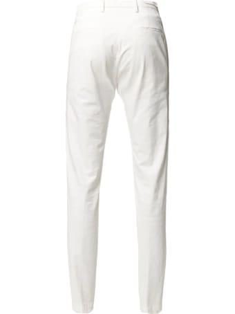 Briglia 1949 White Cotton Chino Trousers
