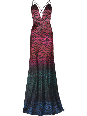 Saloni Elektra Printed Silk Dress