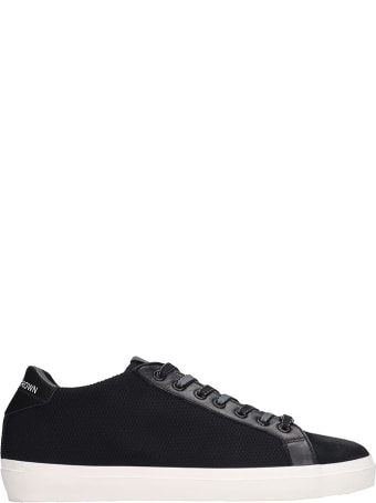 Leather Crown Sneakers In Black Tech/synthetic