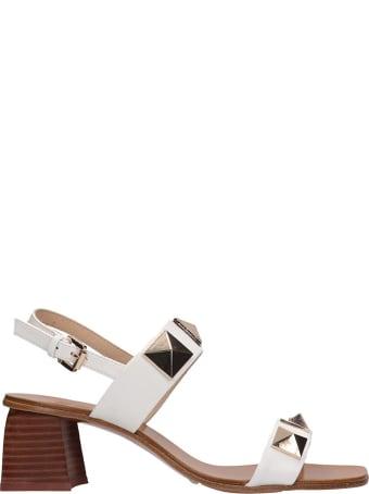 Bibi Lou Sandals In White Leather