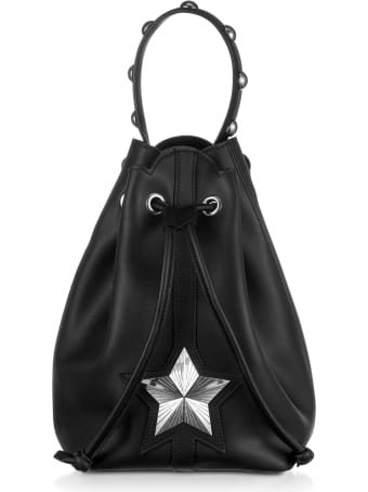 Les Jeunes Etoiles Black Leather Vega Bucket Bag