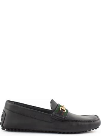 Gucci Black Soft Calf Leather Driver
