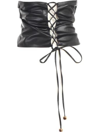 Nanushka Dalhia Top Faux Leather