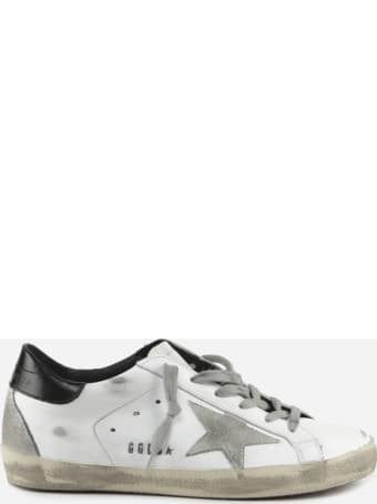 Golden Goose Superstar Classic Sneakers In Leather With Contrasting Heel Tab