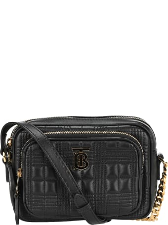 Burberry London Small Quilted Tartan Motif Camera Bag
