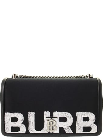 Burberry Lola - Medium Logo Print Cotton Bag