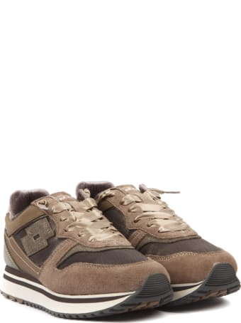 Lotto Leggenda Slice W Brown Suede & Nylon Sneaker