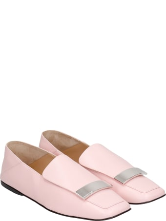Sergio Rossi Loafers In Rose-pink Leather